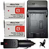 Halcyon NP-BG1 1400 mAh Lithium Ion Extended Replacement Battery and Wall Charger with Car Charger Kit for Select Sony CyberShot Cameras