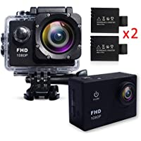 Action Camera Waterproof 30m Sport Camera Full HD 1080P 2.0 Inch LCD Display 120 Degree Wide Angle Lens Sport Recorder Car Camera with Outdoor Accessories
