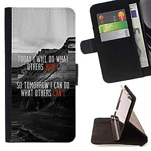 Jordan Colourful Shop - Funny Motivational Message Today For Sony Xperia Z1 Compact D5503 - < Leather Case Absorci????n cubierta de la caja de alto impacto > -