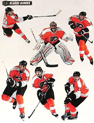 FATHEAD Philadelphia Flyers Mini Team Set of NHL Vinyl Wall Graphics - 6 Player Graphics 7
