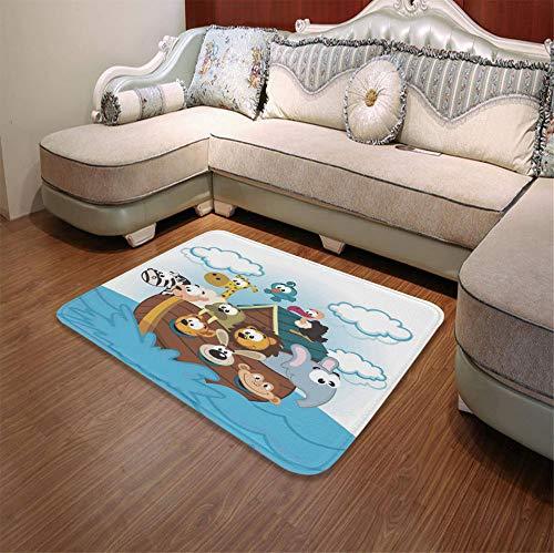 - TecBillion Modern Carpet,Noahs Ark,for Living Room Bathroom,55.12