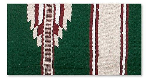 Mayatex Ranger 2000 Saddle Blanket, Hunter/Sand/Burgundy, 30 x 60-Inch