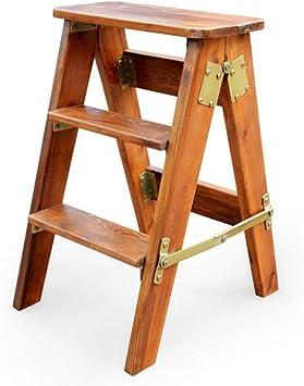 BLWX LY-Escalera Taburete Plegable escaleras Multi-función del pie Taburete Plegable de Madera Maciza casa Taburete portátil de Madera de Escalada 200 kg de Carga banca (Color : Yellow Pomelo): Amazon.es: Bricolaje y