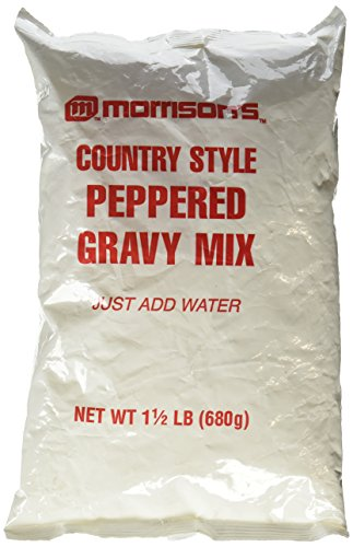 Style Gravy Mix (Morrison's Country Style Peppered Gravy Mix 1 1/2 Lb. Just Add Water - Large & Small Batch Instructions)