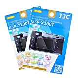 2X JJC GSP-X100T Tempered Clear Optical Glass Screen Protector for Fujifilm X100F X100T X-M1 X-A1 X-A2 Camera, 0.01'' (0.3mm) Ultra-thin, 9H Hardness, includes Cleaning Cloth & Application kit
