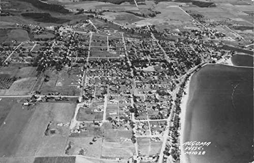 Real Photo Postcard Aerial View of Algoma, Wisconsin~118058 (Map Aerial Photography)