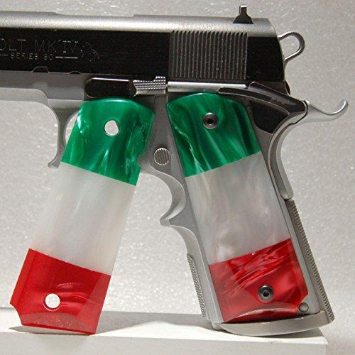 1911 Gun Grips, Full Size, Kirinite, Mexican Flag