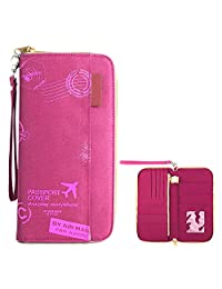 Travel Passport Wallet, Holder Cover Wallet RFID Card Case Document Organizer for Men and Women (T17)