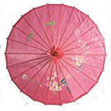 Japanese Chinese Umbrella Parasol 22in Hot Pink 157-11