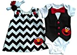 Boy Girl Twin Outfits Elmo Set Perfect Pairz USA Made