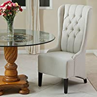 Best Selling Home Decor Champion Tufted Tall Back Light Fabric Dining Chair