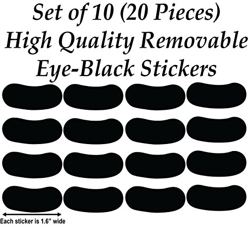 Chic Walls Removable Custom Persoanlized Eye Black Sticker Decal Football Sports Team Colors (Under Football Eye)