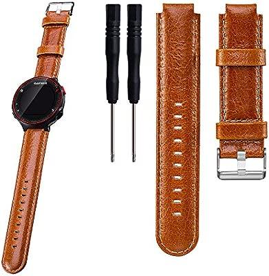 Garmin Forerunner 220/230/235/630/620/735 x T Smart Watch Reemplazo Banda Correa de muñeca de piel auténtica – ifeeker reloj banda pulsera con ...