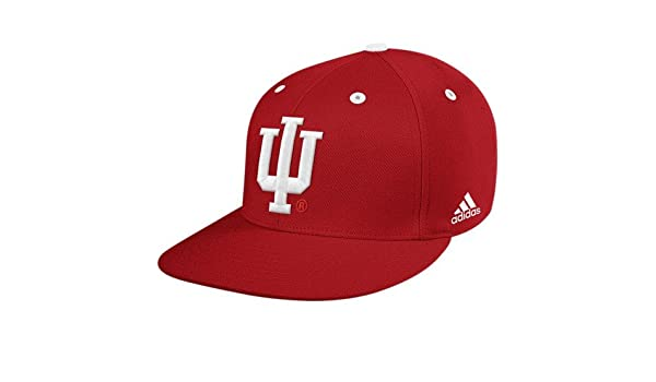 19a7f41a9cd Amazon.com  adidas Indiana Hoosiers Crimson On Field Performance Fitted Hat  (7 3 4)  Sports   Outdoors