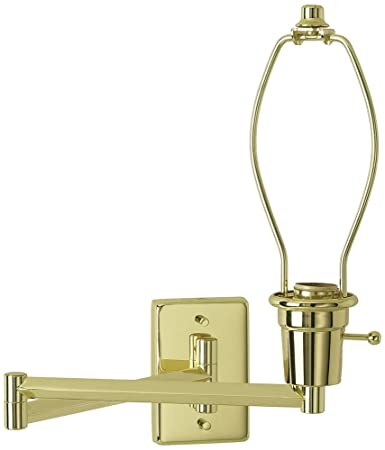 brass plug in swing arm wall lamp base wall sconces amazon com