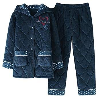 Pijamas de Mujer Invierno Espesar Acolchado Encantador Mantener ...