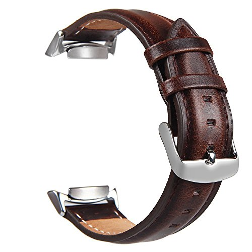 "Price comparison product image For Samsung Gear S2 Watch Band,TOROTOP Genuine Leather Replacement Band with Stainless Steel Connector for Samsung Gear S2 Sport Smart Watch Band SM-R720/R730(NOT FIT SM-R732)-Fits 6.3""-7.9"" Wrists"