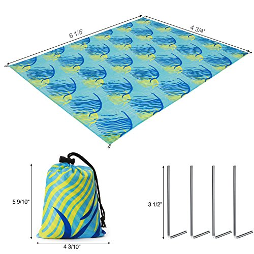 Fish Pattern Beach Blanket UGCM90UY