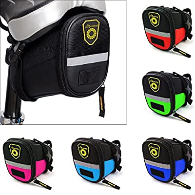 Beeway Bike Saddle Bag, Outdoor Cycling Mountain Bicycle Back Seat Pack Storage Bag - Water Resistant, Colors