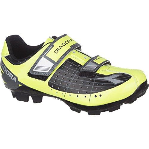 Diadora X-Phantom Jr Shoes Black/Yellow Fluo Dd/White, 34.0 - (Diadora Cycling Shoes)