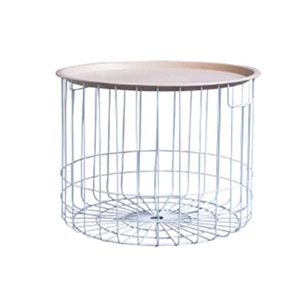 e69b19d1aea81 YZZY Side Table Nordic Wrought Iron Coffee Table Round Creative Mini Coffee  Table Simple Modern Small