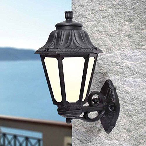 Fumagalli wall lantern outdoor ip55 colour black classic style fumagalli wall lantern outdoor ip55 colour black classic style e27 screw opal mozeypictures Gallery