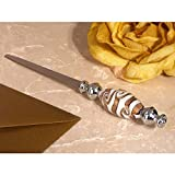 Chic Murano Art Golden Swirls Letter Opener - 60 Pieces