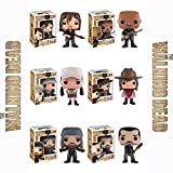 The Walking Dead Daryl with Rocket, Gabriel, Rosita, Carl, Jesus, Negan Pop! Vinyl Figures Set of 6