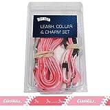 Hunter Manufacturing HUN-4100-14-5503 St. Louis Cardinals MLB Dog Collar & Leash Set - Pink