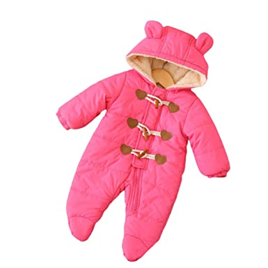 2c84a66cf Amazon.com  LOSORN ZPY Baby Girl Hooded Snowsuit Toddler Winter Warm ...