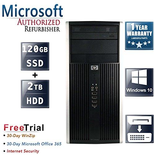 HP Pro 6200 MiniTower Business High Performance Desktop PC (Intel Core i5-2400 3.1GB Quad Core,8GB DDR3,120GB SSD+2TB,DVD-ROM,DP to DVI Cable,Windows 10 Professional)(Certified Refurbished) (Hp Mini Windows 8)