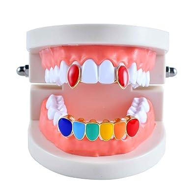 Teeth Grill Hip Hop Top Teeth/&Bottom Dental Covers Vampire Teeth Halloween Party