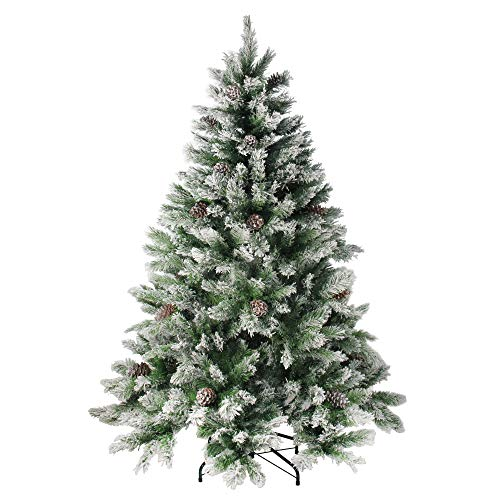 - Northlight Angel Pine Cones Christmas Tree, 6', Green