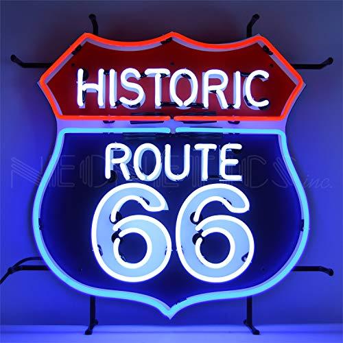 Neonetics 5RT66B Historic Route 66 Sign RED White & Blue NEON, White/Blue