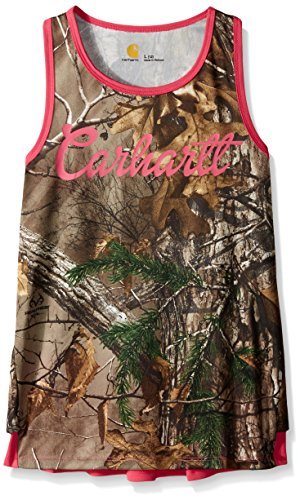 Price comparison product image Carhartt Big Girls Force Camo Ruffle Tank,  Realtree Xtra,  12