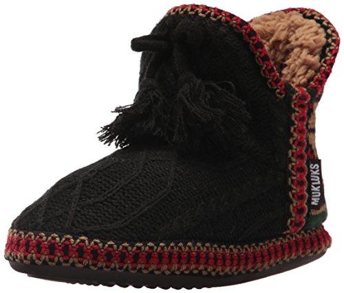 Muk Luks Dames Amira Met Jojoba-zwarte Pantoffel Zwart