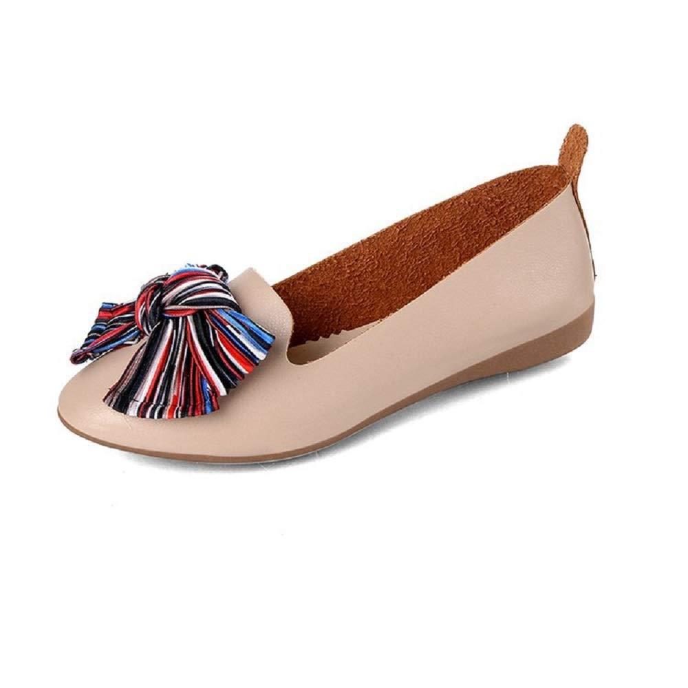 Qiusa Qiusa Tassel 8626 Knot Baller : Flats Femme Chaussures Casual (coloré : Blanc, Taille : EU 36) Blanc b97e799 - reprogrammed.space