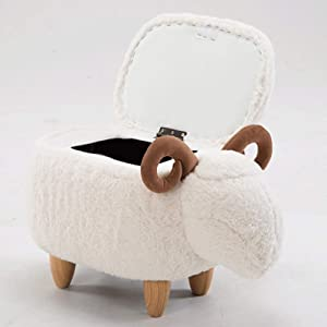 ZYL Creative Shoe Chairs House Changing Stool Shoes Stool Sheep Shoes Stool Storage Bench Shoe Test Bench Footrest Small Sofa Stool Modern Minimalist (Color: White)