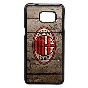 FC AC Milan Football Club Logo For Samsung Galaxy S6 Edge Plus Black Custom Cell Phone Case Cover 99II926883