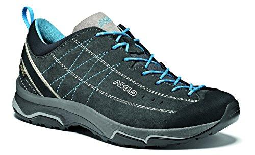 Asolo NUCLEON GV ML Shoe, Womens Shoes,Multicolour (Grey (Graphite/Silver / Cyan Blue)), 5.5 UK