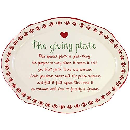 DEI 81555 Ceramic Giving Plate, 9