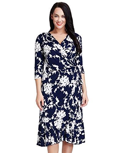 Buy dress with a flounce skirt - 4