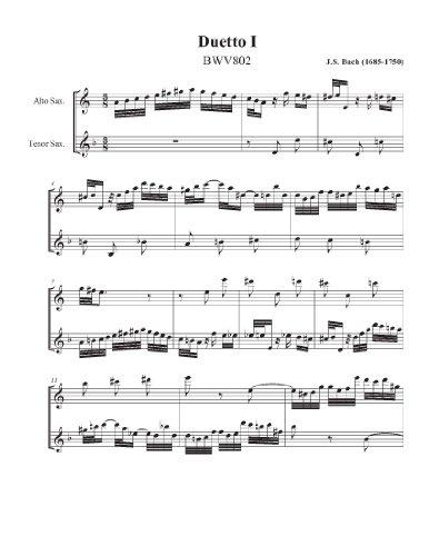 Bach Duetto for Alto and Tenor Saxophone