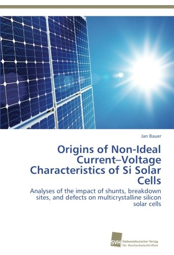 Origins of Non-Ideal Current–Voltage Characteristics of Si Solar Cells: Analyses of the impact of shunts, breakdown sites, and defects on multicrystalline silicon solar cells