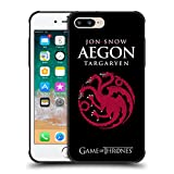 Official HBO Game of Thrones Jon Snow Aegon Graphics Shockproof Matte Black Case for iPhone 7 Plus/iPhone 8 Plus