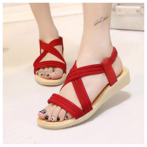 Sandales D'été, Femmes, Chaussures De Loisirs Chaussures Aqua, Rouge