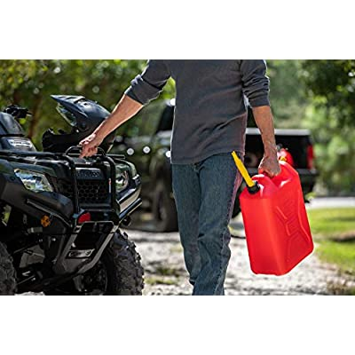 Scepter 5.3 Gallon RV Gasoline Can / 20 Liter, Military Style Gas Can, Red: Automotive