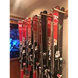 Pro Board Racks Vertical Ski and Snowboard Storage Rack (Holds Up to 12 Pairs of Skis)