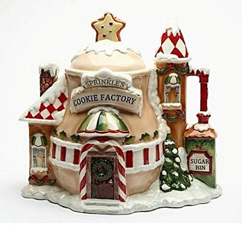 Cosmos 10933 Gifts Ceramic Santa's Village Cookie Jar, 11-3/4-Inch by Cosmos