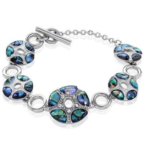 Abalone Paua Shell Bracelet with Toggle - Abalone Toggle